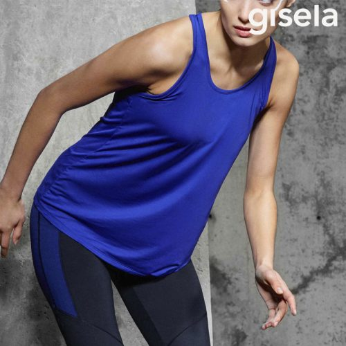 camiseta deportiva ancha color azul
