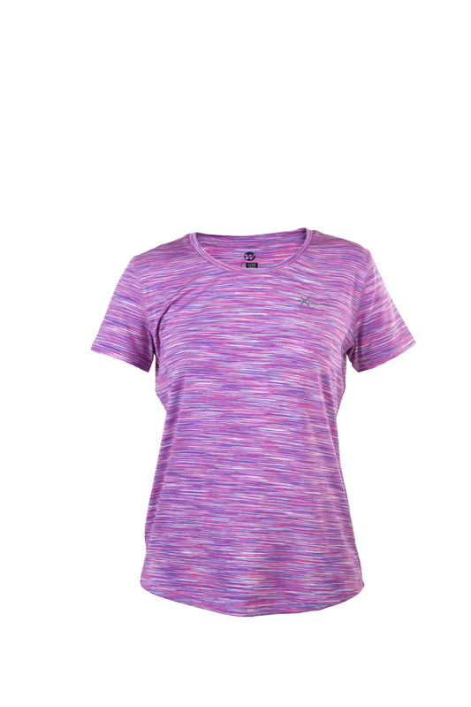 camiseta deporte manga corta malva