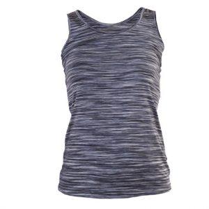 camiseta sport jaspeada gris tirantes.