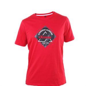 camiseta chico algodón roja dibujo en el centro circular