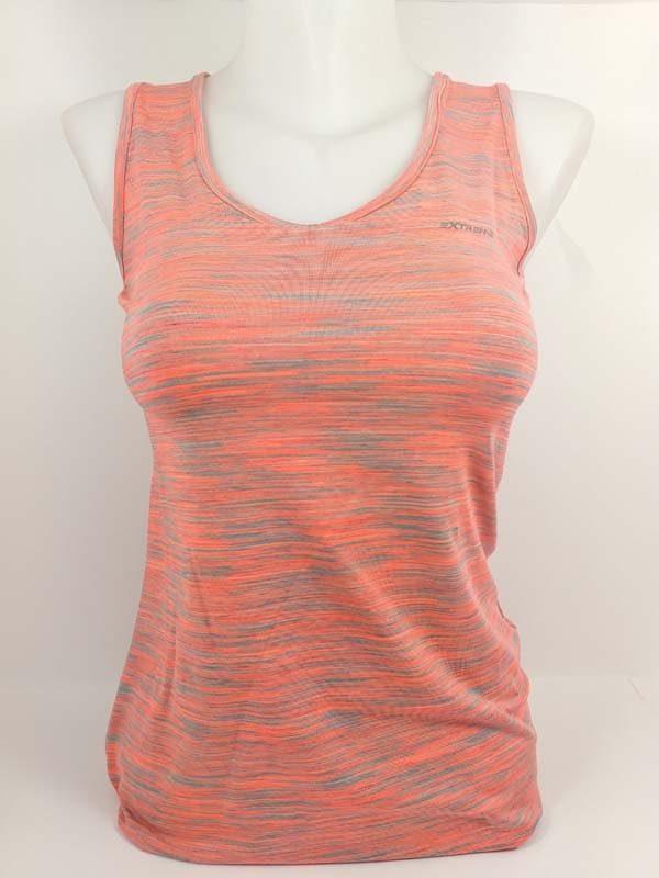 camiseta sport jaspeada coral tirantes.