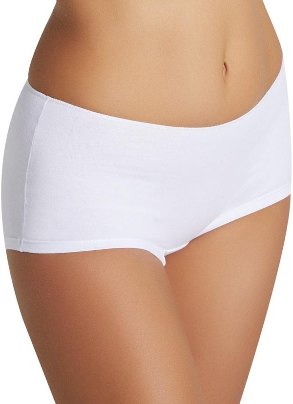 Short interior de algodón no marca. Color blanco