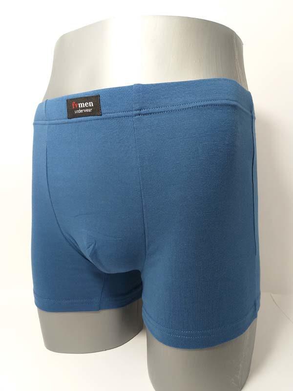 boxer clásico azulón con etiqueta en la parte superior
