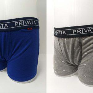 pack boxer niño 2 unidades. Uno azul y otro gris. Con la goma a la vista con letras