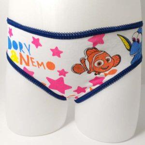braga niña Disney estampado película Buscando a Dory fondo blanco estampado rosa