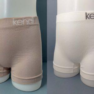 culotte de niña sin costuras mezcla de algodón color piel y blanco. Pack de 2 unidades
