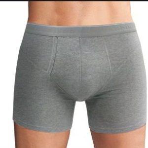 boxer algodon abertura lateral gris