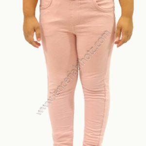 legging niña felpa interior trabillas interiores ajustables con boton, bolsillos, color rosa palo