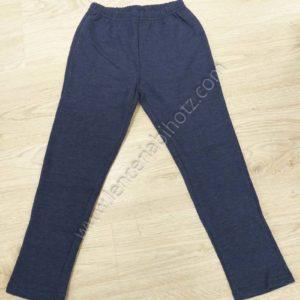 pantalon algodon niño con felpa interior. Color azulon jaspeado.