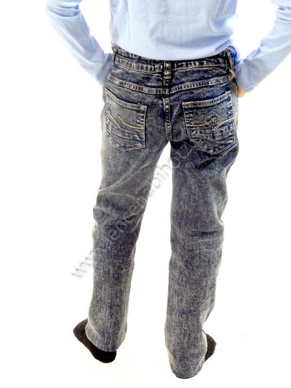vaquero niño azulon tejido desgastado 5 bolsillos