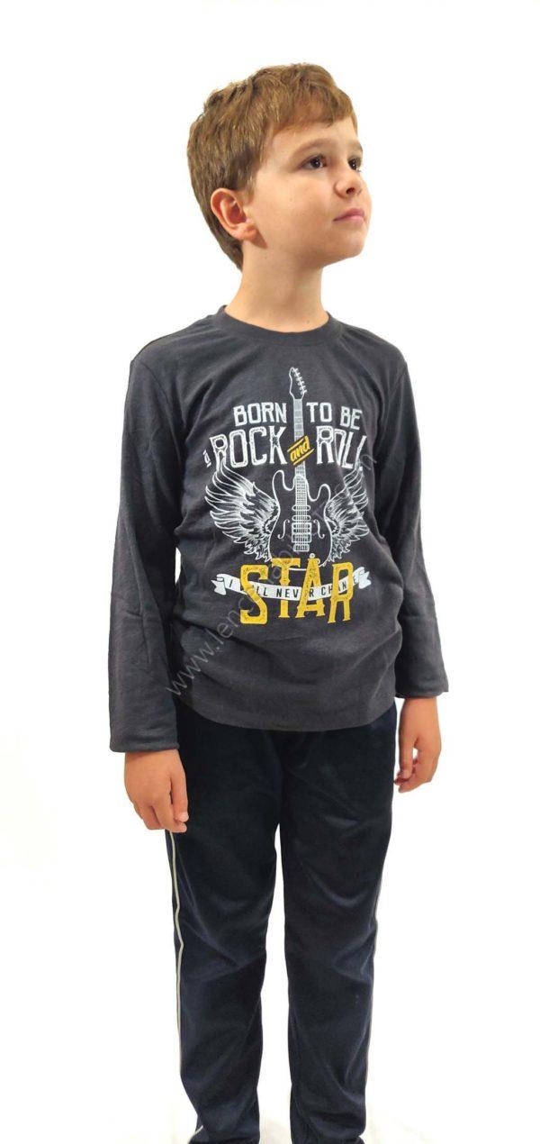 camiseta niño manga larga gris heavy lenceriabihotz Errenteria