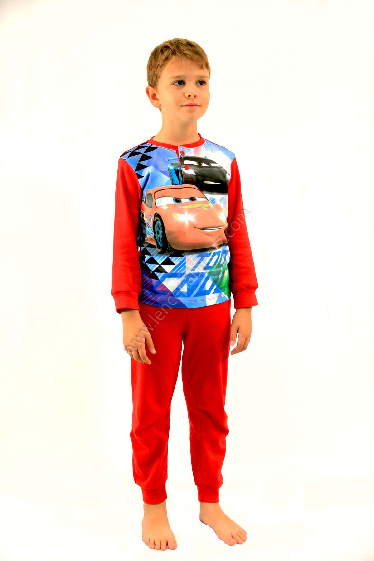 Pijama Nino Algodon Cars Punos En Mangas Y Pantalon