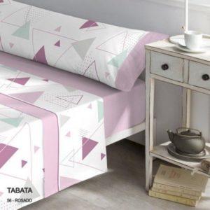 franela rosa estilo geometrico