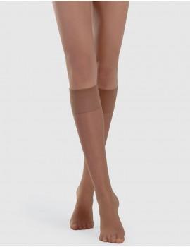 media rodilla piel con silicona en el puño. No se cae , no aprieta
