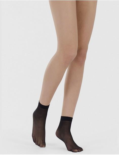 media calcetin con puño con silicona pulverizada. Negro