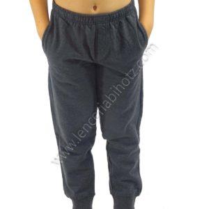 pantalón de algodón para niño bolsillos con puños de color gris marengo