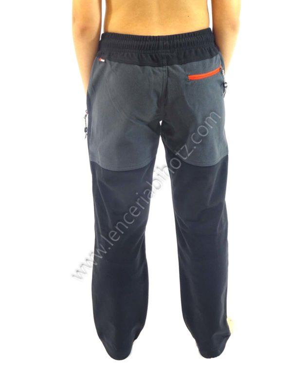 pantalon micropana niño trekking petacho en las rodillas cremalleras de color