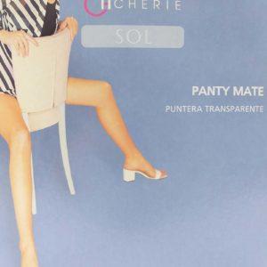 panty extra fino de verano color mate y puntera transparente