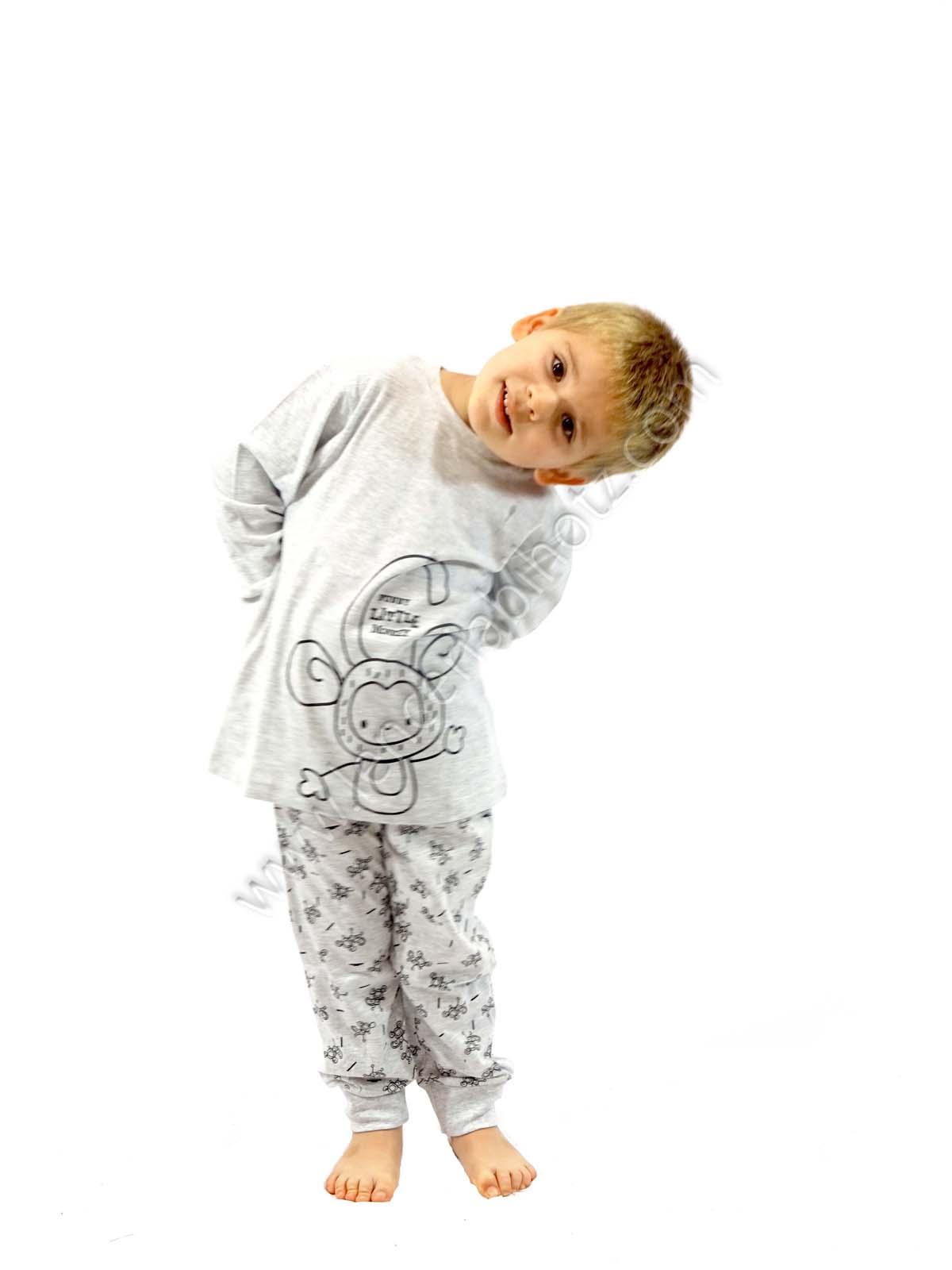 Pijama Nino Algodon Monos Puno En Pantalon Y Mangas