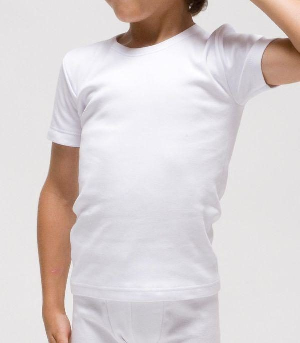 camiseta manga corta felpa niño