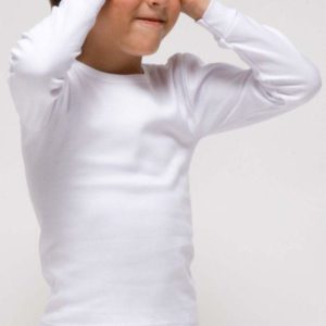 camiseta manga larga felpa niño