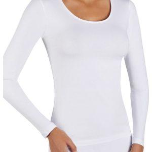 camiseta algodon blanca de manga larga.
