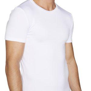 camiseta termica con felpa para hombre de manga corta