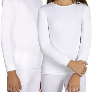camiseta infantil termica con felpa interior blanca. Manga larga