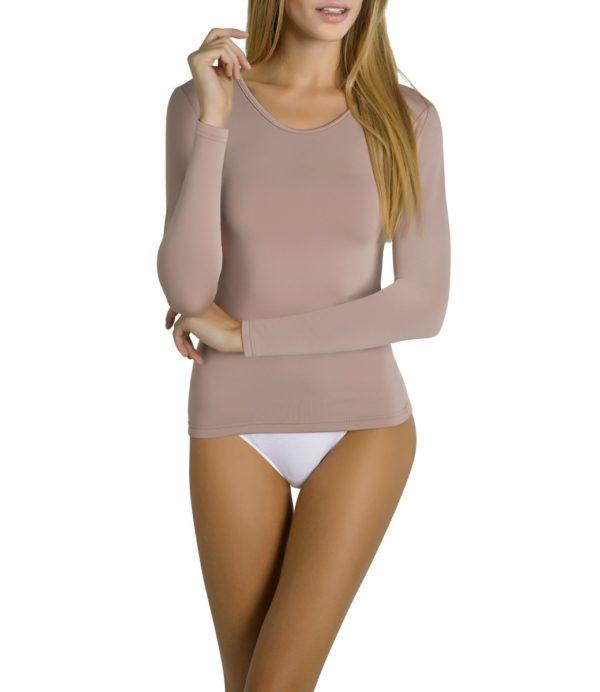 camiseta termica manga larga de mujer piel