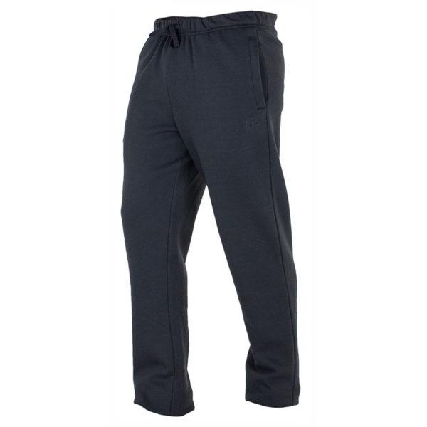 pantalon deporte con felpa interior negro con bolsillos y cuerda en cinturilla