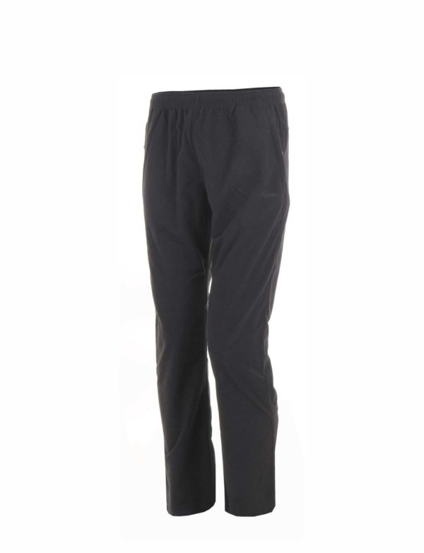 pantalon trekking hombre negro bolsillo cremallera liso