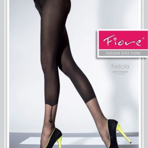 panty semi transparente con zona fina en el tobillo y detalle de colgante.