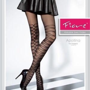 panty negro semi opaco con detalles de zig-zag bordados
