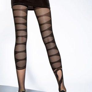 panty negro semi opaco con dibujo trasero