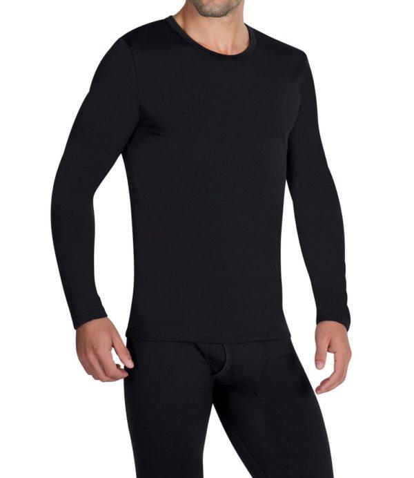 camiseta termica ml caballero negra