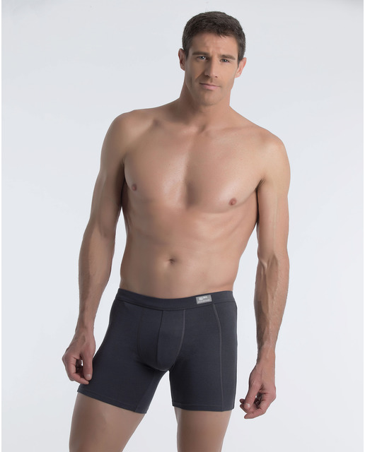 boxer abanderado gris pierna larga algodon lenceriabihotz