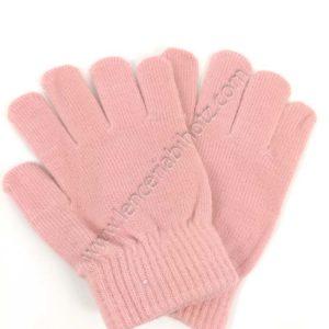 guantes niña rosa palo lisos
