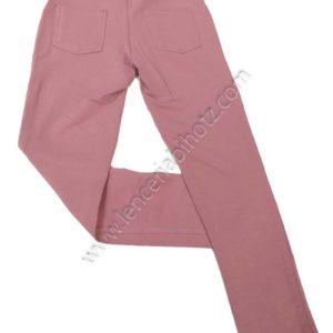 legging algodon para niña en rosa palo con bolsillos traseros