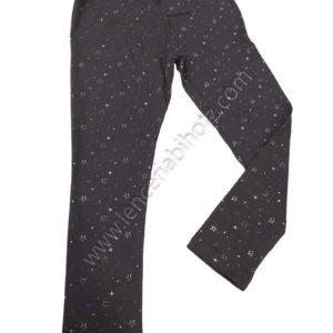 legging de niña de algodon con estrellas color gris marengo