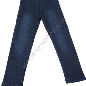 legging vaquero polar algodon azul para niña