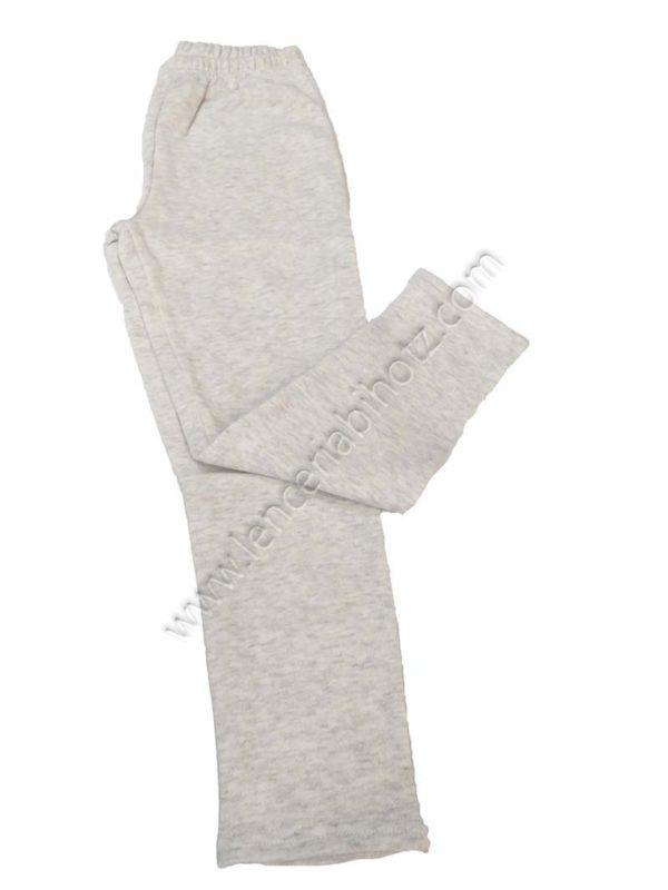 pantalon algodon niño con felpa interior color gris jaspeado.