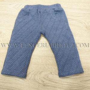 pantalon bebe forrado azul con bolsillos laterales