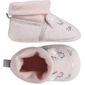 bota para casa rosa carita de raton. Puño elastico adaptable