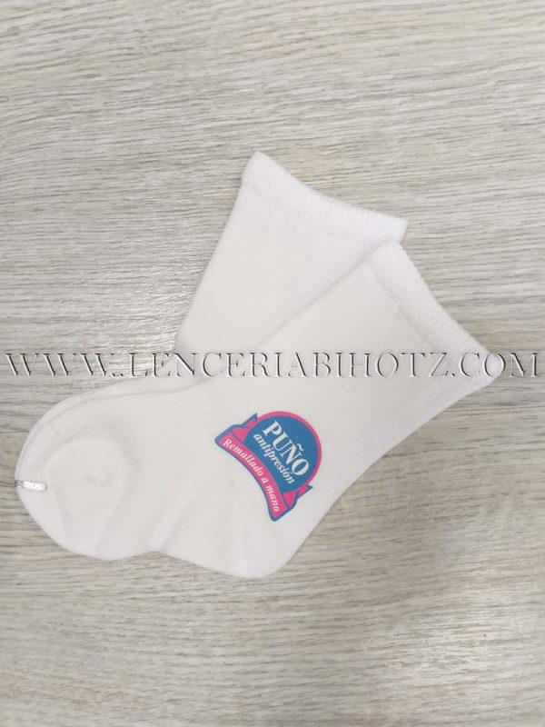 calcetin bebe algodon tupido blanco
