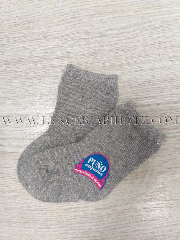 calcetin bebe algodon tupido gris marengo