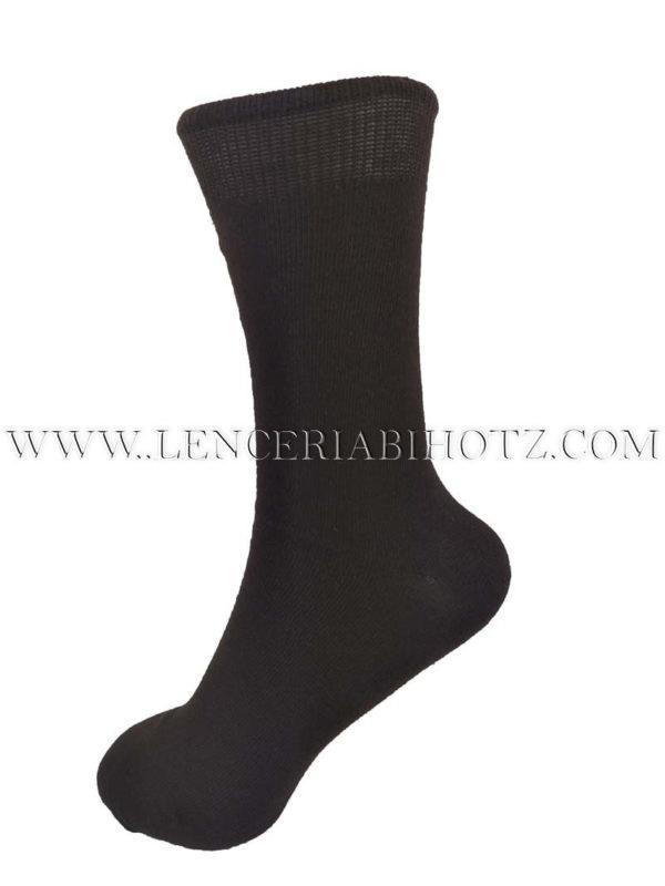 calcetin para mujer de 100% algodon de caña alta . Puño ancho