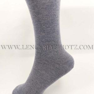 calcetin sin goma de rulo en color azul jeans