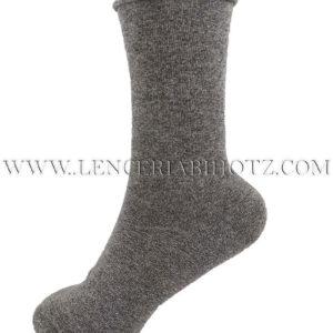 calcetin algodón rulo sin goma. Color gris marengo