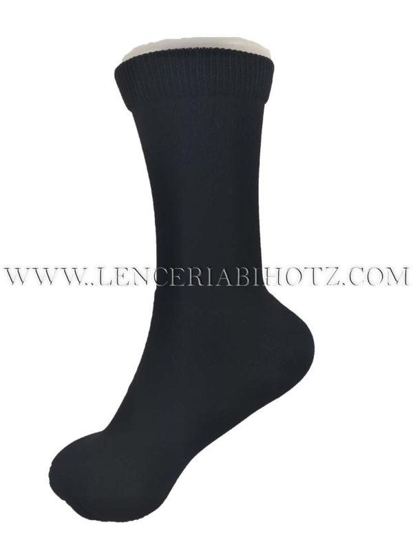 calcetin para mujer termico de poliamida extra suave color negro