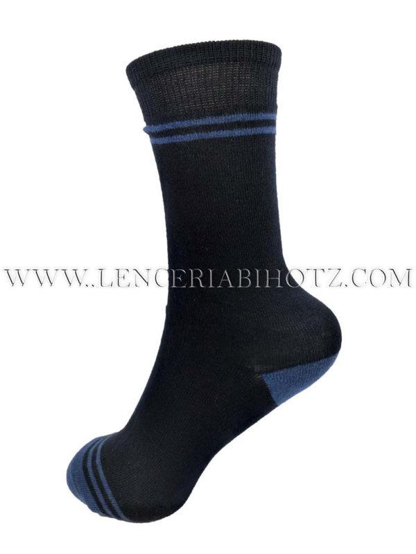 calcetin de niño marino con detalles en azul